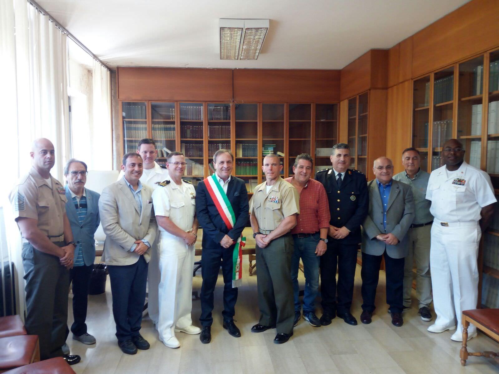 I Marines in visita a Paternò