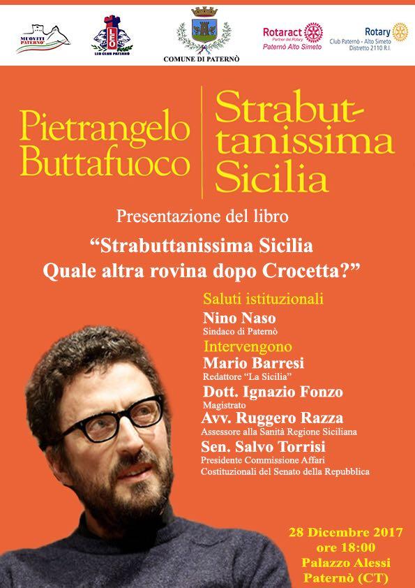 """""""Strabuttanissima Sicilia"""". Buttafuoco presenta il libro a Paternò"""