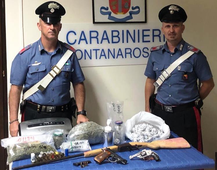 Catania – Sequestro di armi e droga: due gli arrestati, uno dei due è un paternese