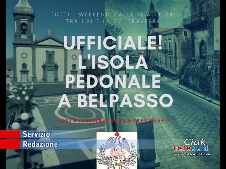 BELPASSO: ISOLA PEDONALE NEI WEEK-END