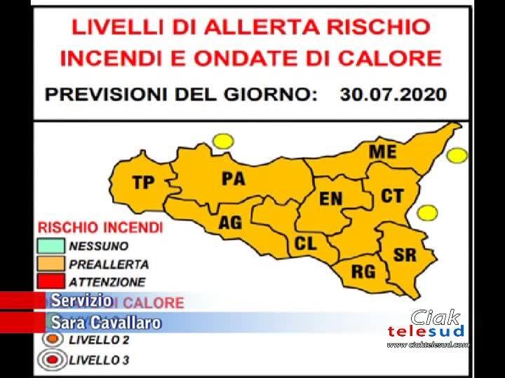 SICILIA: IN ARRIVO CALDO TORRIDO