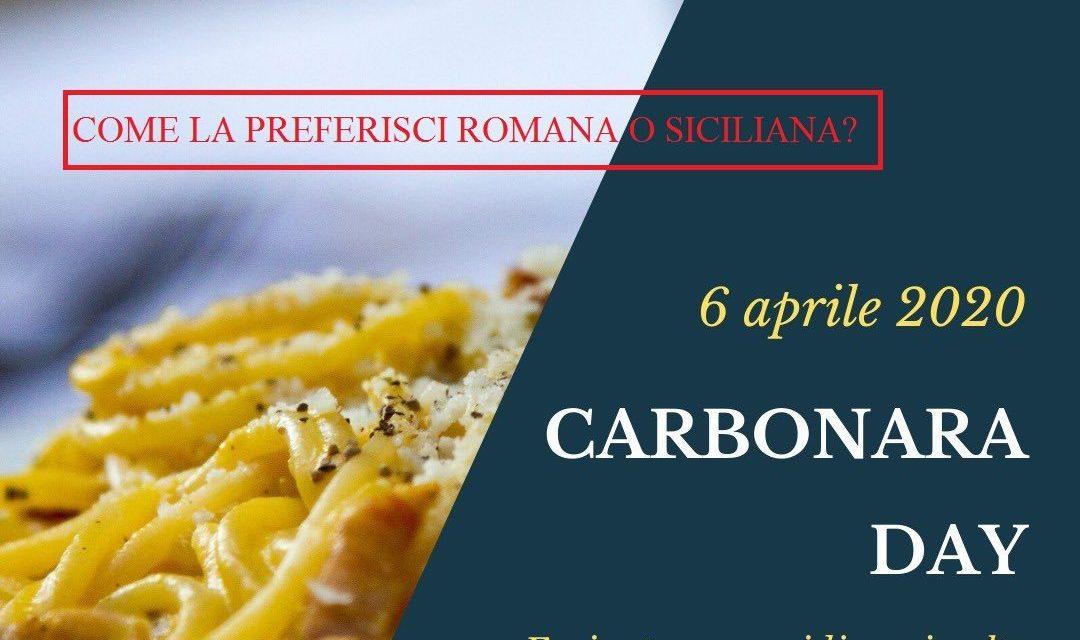 #CARBONARA DAY: UN PIATTO CHE UNISCE, UNA RICETTA CHE DIVIDE! VOI COME LA PREFERITE ROMANA O SICILIANA?