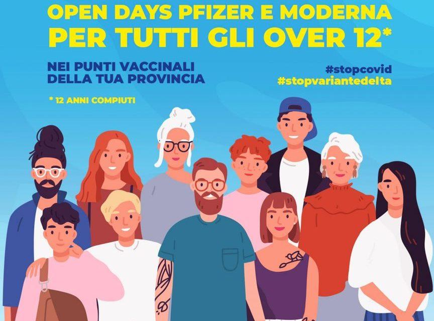 """SICILIA:""""OPEN DAYS VACCINI"""" FINO A MARTEDÌ 14 SETTEMBRE"""