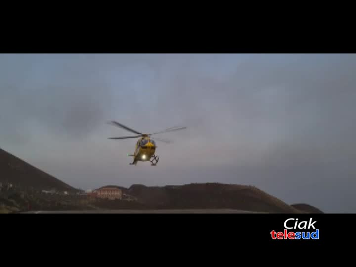 Ciclista soccorso sull'Etna