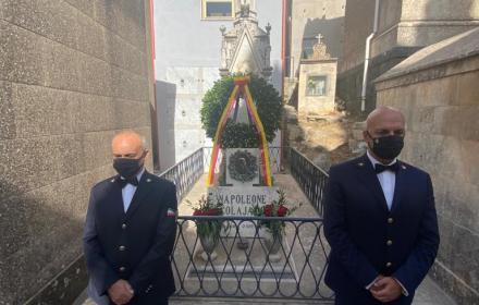 SICILIA:CORONA D'ALLORO DELLA REGIONE SULLA TOMBA DI NAPOLEONE COLAJANNI