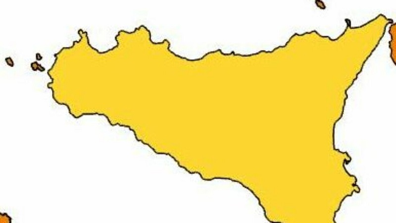 SICILIA: UN'ALTRA SETTIMANA IN GIALLO, UNICA REGIONE D'ITALIA