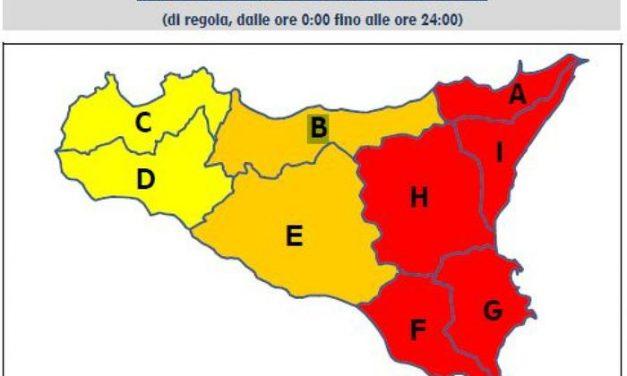 SICILIA: LA PROTEZIONE CIVILE CONFERMA L'ALLERTA ROSSA SULLA SICILIA ORIENTALE
